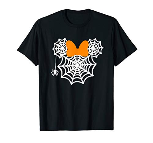 Mickey Mouse Halloween Pumpkin Ideas (Funny mouse Halloween shirts with bow and spider )