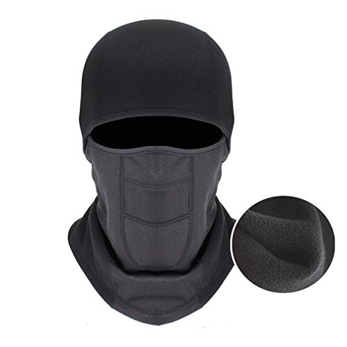 MIWORM Windproof Balaclava Face Ski Mask,Winter Hat Outdoors Helmet Liner Mask, Suitable for Skiing Motorcycle Bicycle Climbing,Black