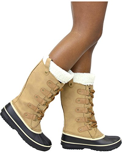 Boot Snow Women's Via Collection PINKY Tan qwzRIxtRC