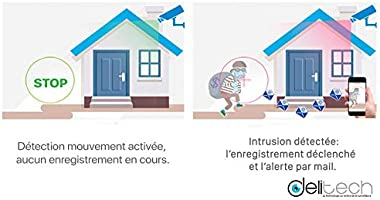 Pack de cámaras de videovigilancia JF Tech Interior Full HD – Delitech Pack 4 Caméras: Amazon.es: Electrónica