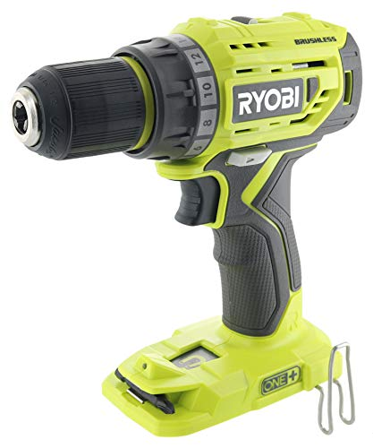 Ryobi P252 18V Lithium Ion Battery Powered Brushless 1,800 RPM 1 2 Inch Drill Driver w MagTray and Adjustable Clutch Battery Not Included Power Tool Only