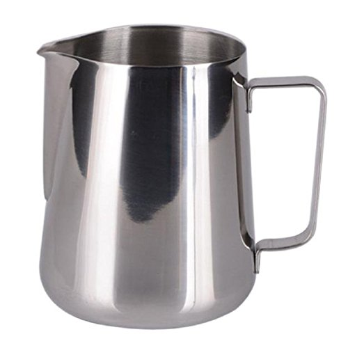 Frother Mug (King International Stainless Steel Milk Frothing Pitcher 30 Oz, Milk Frothing Mug - for Espresso Machine, Coffee Milk Frother and Latte Make)