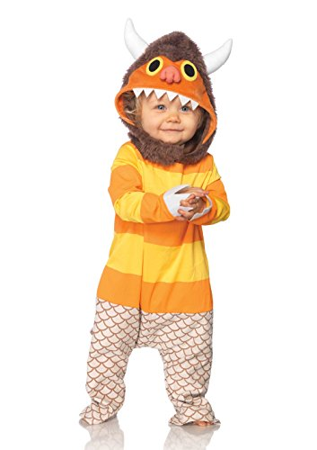Wild Halloween Costumes (Leg Avenue Baby's Where The Wild Things Are Carol Costume, Brown/Orange, 18-24 Months)