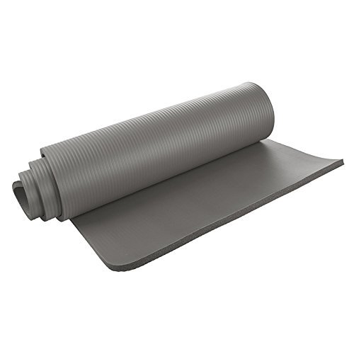 Amazon.com : Yoga Mat   SODIAL(R)Yoga Mat 15mm Thick Exercise Fitness  Physio Pilates Gym Mat Non Slip Crash Mat, Gray : Sports U0026 Outdoors