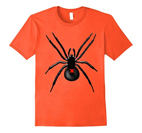 Black Widow Couples Costumes (Mens Black Widow Spider Halloween Costume T Shirt Small Orange)