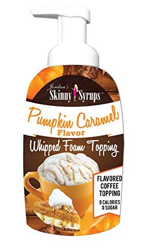 Jordan's Skinny Syrups Pumpkin Caramel Whipped Foam Topping,16 Ounce