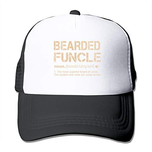 (Riokk Az Bearded Funcle Summer Mesh Baseball Cap Adjustable Trucker Hat for Women's Men)