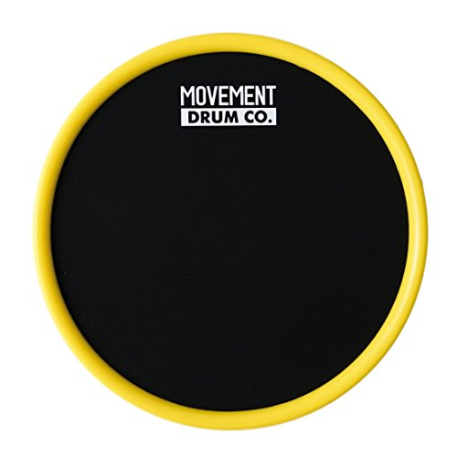 Ultra Portable Practice Pad - 6'' Drum Pad (Yellow) - Case (Rock Band Drum Bag)
