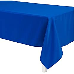 LinenTablecloth 60 x 126-Inch Rectangular Polyester Tablecloth Royal Blue