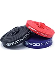 WOD Nation Pull up Assistance Bands Best for Pullup Assist, Chin Ups, Resistance Band Exercise, Stretch, Mobility Bench Work & Serious Fitness - Single Band 41 inch Straps
