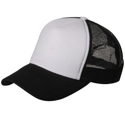MG Cotton Trucker Cap-Black White OSFM Cotton Trucker Cap