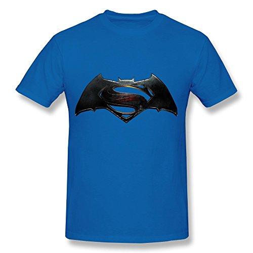 Jiuzhou Funny Batman V Superman Dawn Of Justice Logo Tee - Men's Tshirts Size XS RoyalBlue