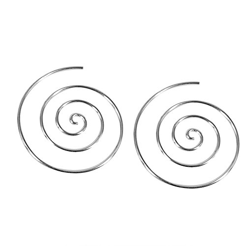 - Cute Round Swirl Slide Hoop .925 Sterling Silver Earrings