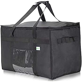 KIBAGA Commercial Insulated Food Delivery Bag XXL - 23 x 14 x 15 inches Waterproof Delivery Bag for Hot Food Delivery - Premium Food Warmer Bag for Uber Eats and Doordash Food Delivery Delivery