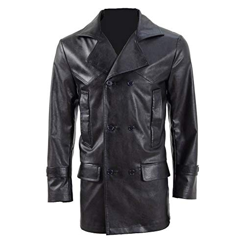 BelieveME Men's Leather Jacket Doctor 9th Cosplay Costumes (XS, Black) -