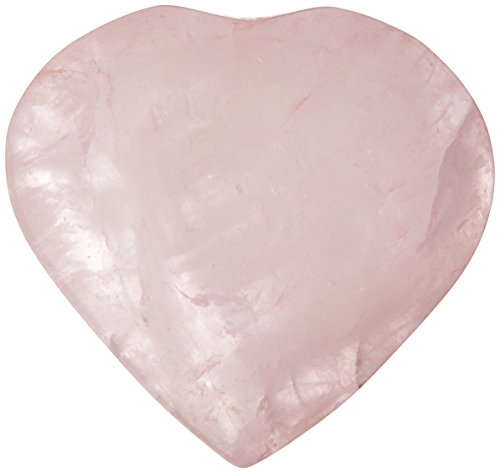 The Chrysalis Stone Rose Quartz Puff Heart Worry Healing Stone