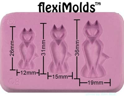 Fleximold Silicon Mold,Sitting Cat Mold