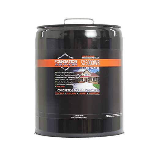 5-Gal. SX5000 WB DOT Approved Water Based Silane Siloxane Concrete Sealer and Masonry Water Repellent 100' High Gloss 1 Roll