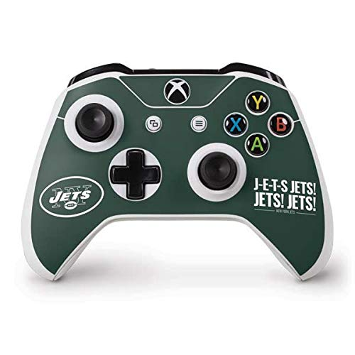 Skinit New York Jets Team Motto Xbox One S Controller Skin - Officially Licensed NFL Gaming Decal - Ultra Thin, Lightweight Vinyl Decal -