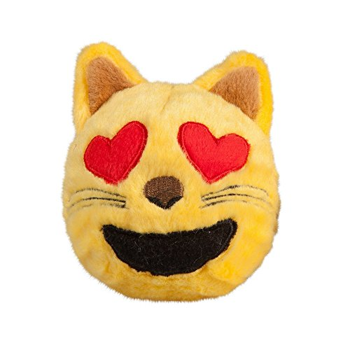 fabdog Cat Heart Eyes Emoji faball Squeaky Dog Toy for sale  Delivered anywhere in USA