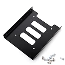 """2.5"""" SSD HDD To 3.5"""" Mounting Adapter Bracket Dock Hard Drive Holder For PC"""