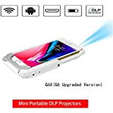 Mini Portable Projector,Wireless WiFi Mini Pocket DLP Light Video Projectors Support Wi-Fi HDMI USB for iPhone X/8/7/6/6s Plus Smart Phones Projection (Mini Projector)