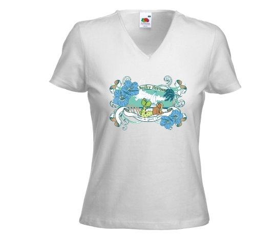 Fruit of the Loom - Camiseta - para mujer blanco