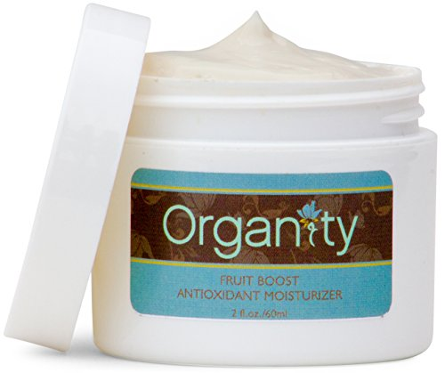 Organic Fruit Boost Antioxidant Face Moisturizer by Organity - Natural Skin Care - Anti Aging & Wrinkle Facial, Eye & Neck Cream - For Normal, Sensitive, Dry & Oily Skin - 2oz (Plus Antioxidant Face Cream)