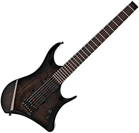 Guitarra Harlem Headless de Gear4music Trans Black