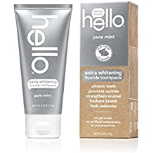 Hello Oral Care Extra Whitening Fluoride Toothpaste, Pure Mint, 4.2 oz., Pack Of 4