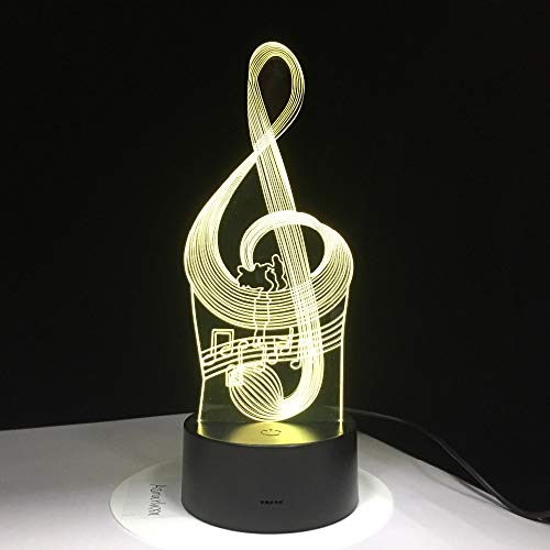 Aetd 3D Led Night Light Music Note with 7 Colors Light for Home Decoration Lamp Amazing Visualization Optical Illusion Awesome Gifts]()