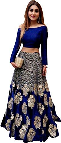Snreks Collection Royal Blue Color Heavy New Designer Indian wear Lehenga Choli (Lehenga Choli)