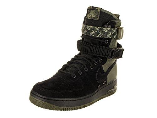 NIKE Men's SF AF1 Black/Black/Medium Olive Casual Shoe 8 Men US