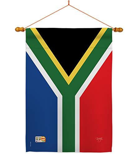 Breeze Decor HS108208-BO-03 South Africa World Nationality Decorative Vertical House Flag Set, 28