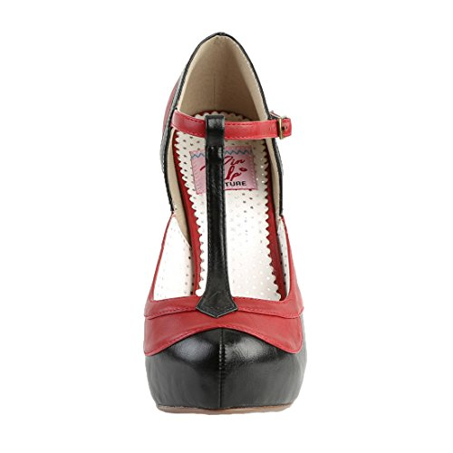Faux Blk Up Couture BETTIE red Leather 29 Pin PYRzw4xq