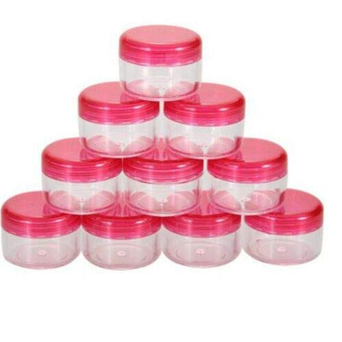 5g/ml Cosmetic Empty Jar Bottles Products 10Pcs Container Makeup Pot Eyeshadow (color - rose red)