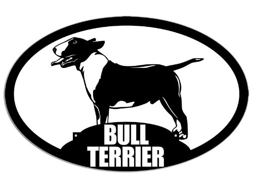 Oval BULL TERRIER Sticker (dog breed cute love my gift)