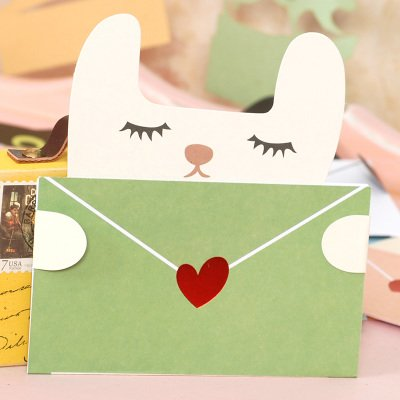 EasyBuy India Cute Animal Message Cards Mini Envelope Thank You Stationery Kids Greeting CardsStyle 8 Amazonin Office Products