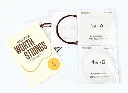 Worth Premium Package Tenor 26'' Ukulele String Brown ()