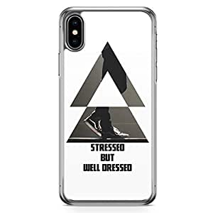 Loud Universe Case For iPhone XS Max Transparent Edge Case Stressed But Well Dressed Gentle Mens Phone Case iPhone XS Max Cover