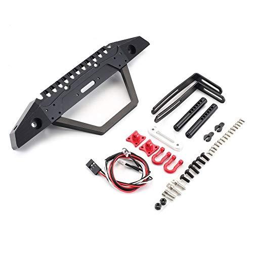 FindeGo Metall, Stahl, Frontstoßstange mit LED-Licht für Axial SCX10 90046 RC Raupenautoersatzteile Zubehör Komponenten