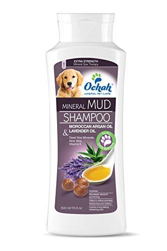 Ochah All-Natural Mineral Mud Shampoo- Skin Renew with Moroccan Argan Oil, Lavender, Aloe Vera, Vitamin E- Rejuvenates and Calms Dry Skin- 16.9oz