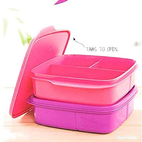 Tupperware Funmeal Plastic Lunch Box, 550ml, Assorted Color  Pack of 1