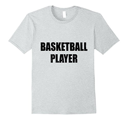 Mens Basketball Player Shirt Halloween Costume Funny Distressed XL Heather (Basketball Player Costume Male)