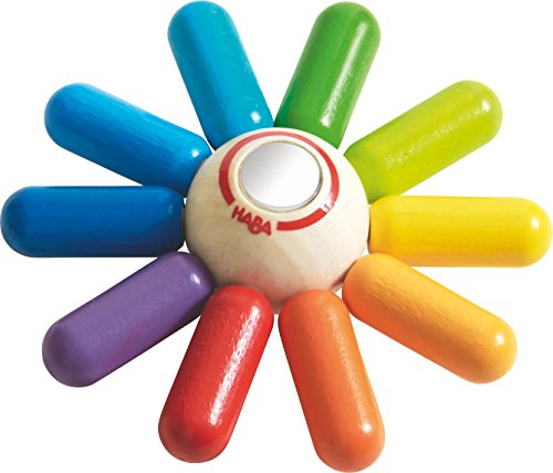 HABA Rainbow Sun Wooden Clutching Toy Rattle & Teether