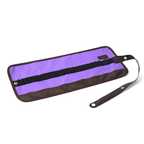 Rtl Bag - Delaman Canvas Pencil Wrap Case 36 Pencils Holder Pens Brush Pouch Wrap Bag (Color : Purple)