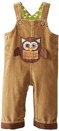 Mud Pie Baby-Boys Newborn Owl Overalls, Multi, 0-6 Months