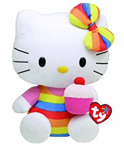 Hello Kitty - Peluche cupcake, 28 cm, multicolor (TY 90115TY)