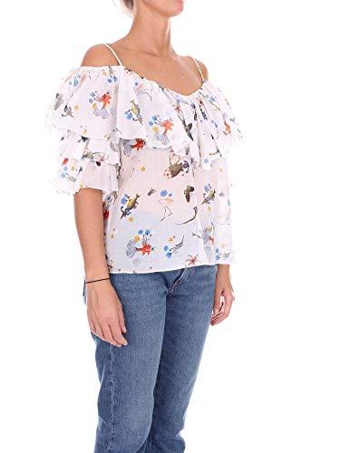 Bianco Blusa 81vp26525 Donna Vivetta Cotone zwP8wf