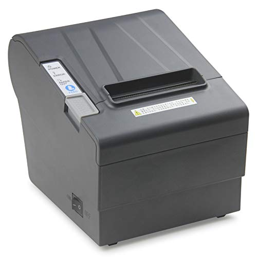 GSAN POS Thermal Receipt Printer 3'1/8 80mm New with USB Serial Ethernet LAN Port RS232 Cash Drawer with Auto Cutter 300mm High Speed Support Windows MAC Driver ESC POS Command Compatible